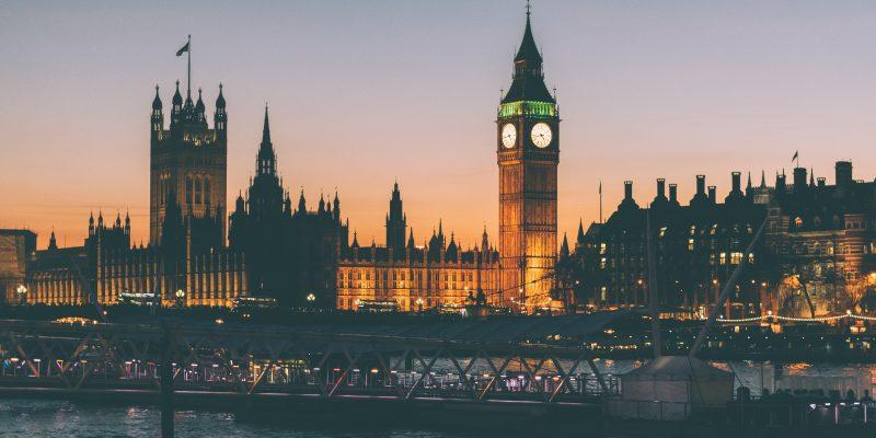 London på kvällen